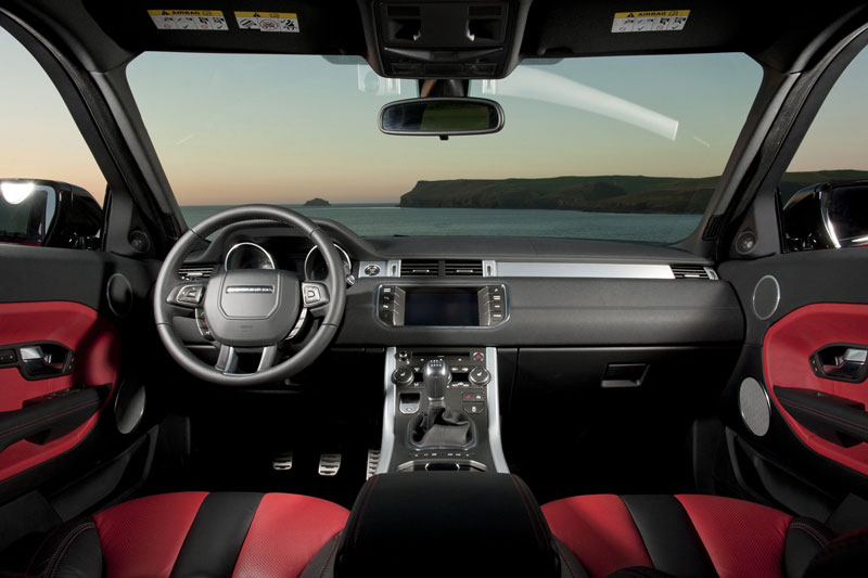 Nội thất của Range Rover Evoque