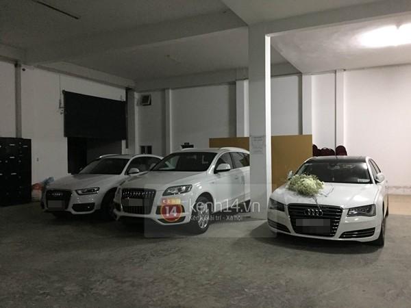 3 chiếc xe Audi chuẩn bị cho đám cưới Công Vinh - Thủy Tiên.
