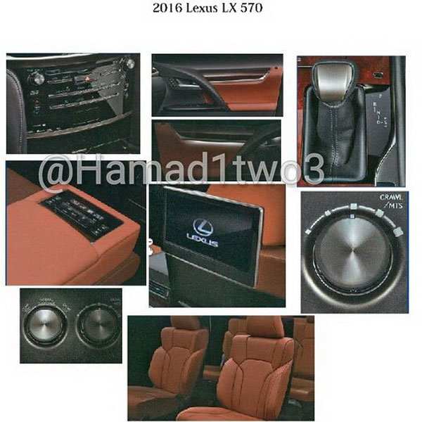 Nội thất của Lexus LX570 2016