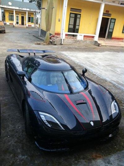 Chiếc siêu xe Koenigsegg Agera R BLT xuất hiện tại Việt Nam vào năm 2012. Ảnh: VnExpress