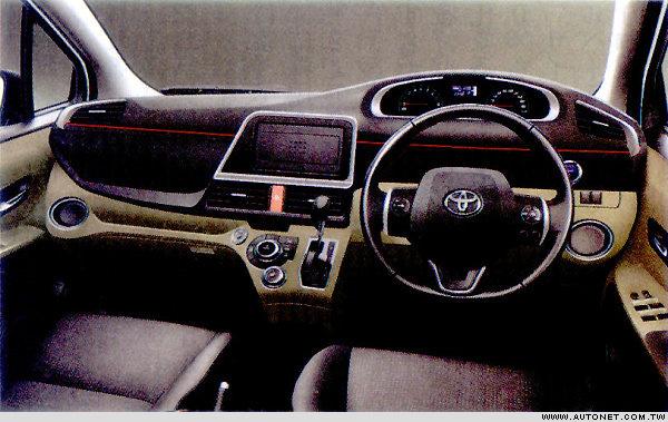 Nội thất đơn giản và tiện dụng của Toyota Sienta 2016.