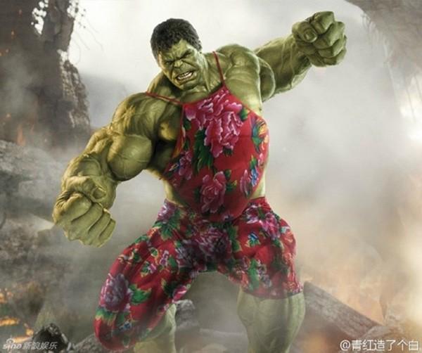 Hulk mong manh cùng yếm thắm trên chất liệu chăn con công.