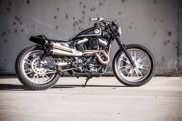 Harley Sportster tracker custom motorcycle by Roland Sands