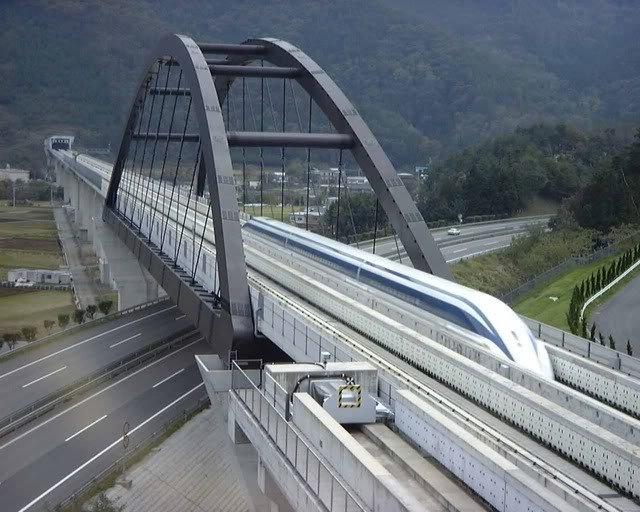 Tàu điện Shinkansen Linear có tốc độ thực tế lên tới 581 km/h.