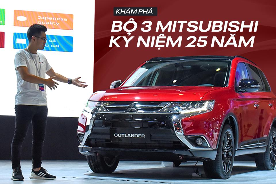 Khám phá bộ 3 xe Mitsubishi kỷ niệm 25 năm tại Việt Nam: Xpander, Outlander và Pajero Sport bản đặc biệt