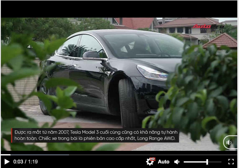 Khám phá nhanh Tesla Model 3 tại Hà Nội