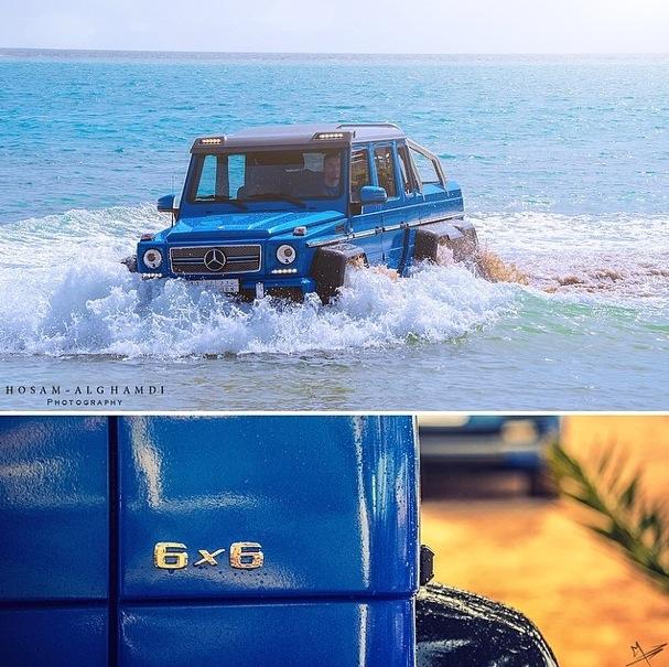 Mercedes-Benz G63 AMG 6x6 tắm ở Biển Đỏ 4