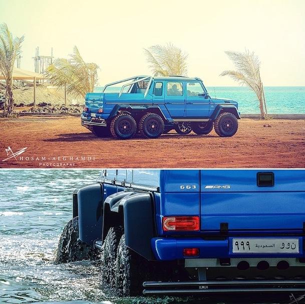 Mercedes-Benz G63 AMG 6x6 tắm ở Biển Đỏ 5
