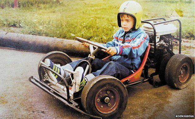Christian von Koenigsegg khi còn nhỏ.