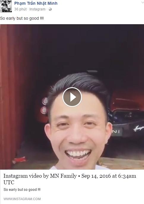 Minh Nhựa đăng video khui công Pagani Huayra lên trang cá nhân.
