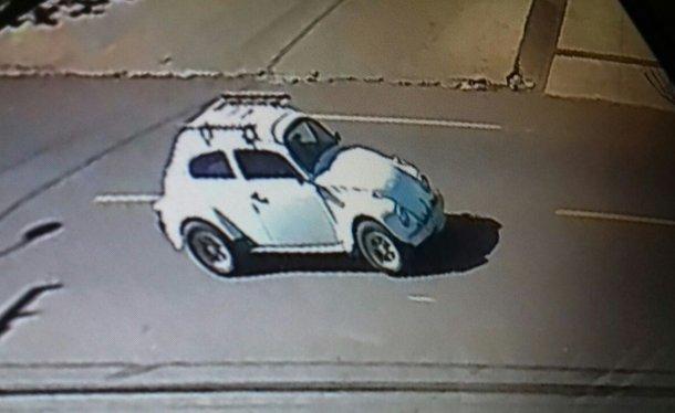 Chiếc Volkswagen Beetle đời cũ gây tai nạn.