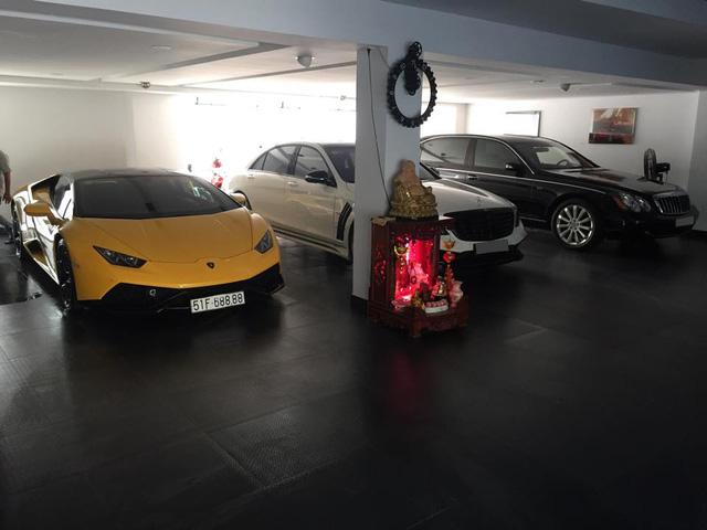 Lamborghini Huracan và Maybach 62S nằm trong gara của Cường Đô-la. Ảnh: Huracan