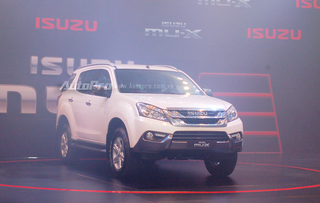 Isuzu MU-X 2016 được phát triển dựa trên khung gầm của mẫu xe bán tải Dmax.