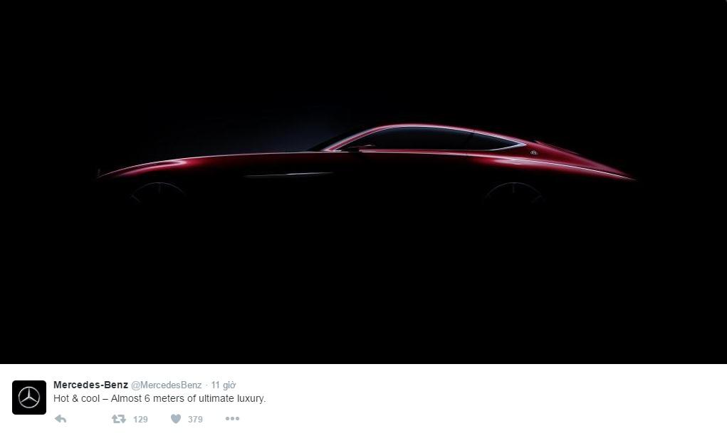 Hình ảnh úp mở của mẫu coupe siêu sang Mercedes-Maybach mới được đăng lên Twitter.