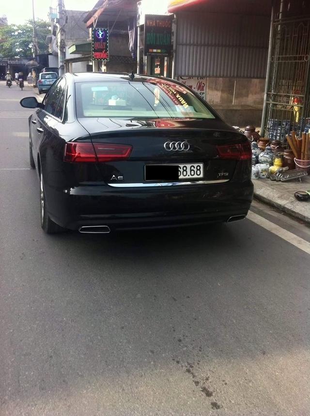 Audi A6 2016 trước khi gặp nạn.