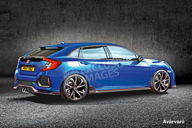Hình ảnh được cho là của Honda Civic Type R thế hệ mới.