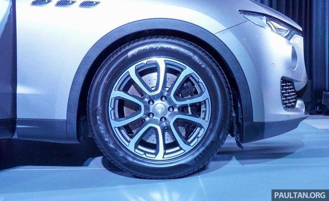 Bộ la-zăng của Maserati Levante có đường kính từ 18-21 inch với nhiều thiết kế khác nhau.