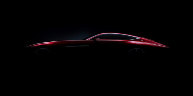 Hình ảnh úp mở cho thấy phần sườn xe của Mercedes-Maybach 6 Concept.