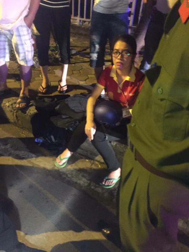 Cô gái được cho là điều khiển chiếc xe Honda Lead trong vụ tai nạn.