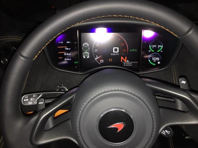 Nội thất của siêu xe McLaren 570S
