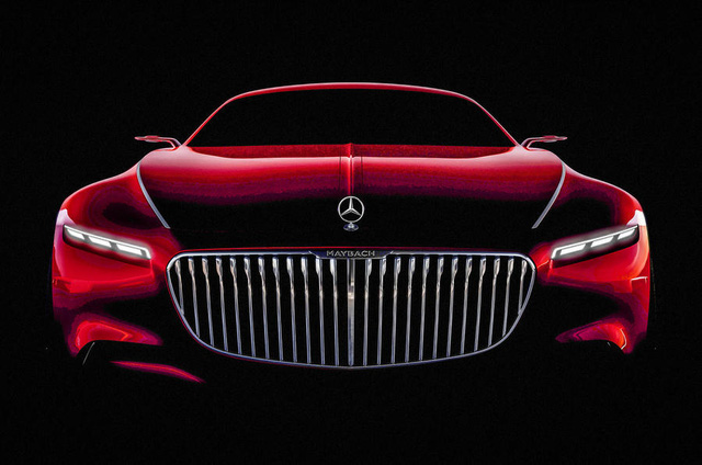 Mercedes-Maybach 6 Concept gây ấn tượng với lưới tản nhiệt cỡ lớn và đèn pha nhỏ bé.