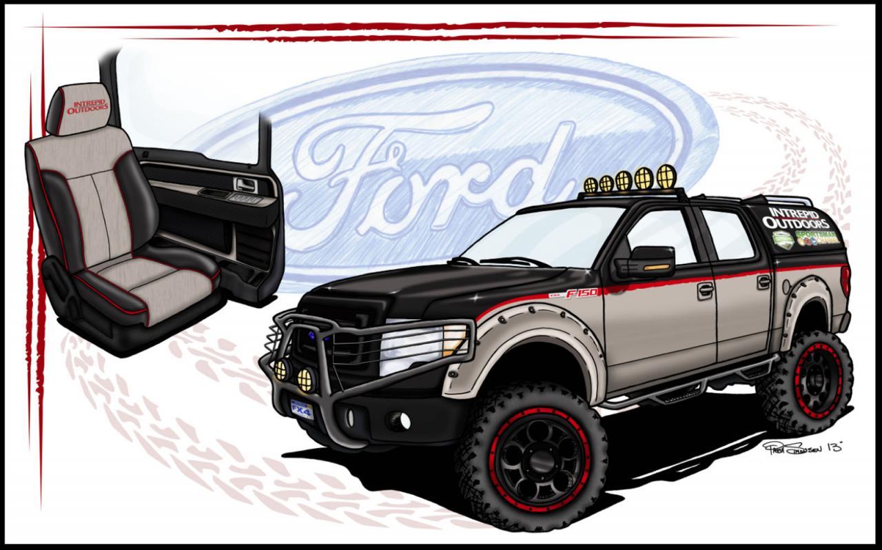 Ford hé lộ hình ảnh 6 mẫu bán tải sắp ra mắt tại triển lãm SEMA 4