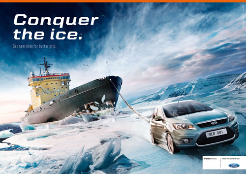 Những tấm poster quảng cáo xe hơi cực kỳ sáng tạo 1