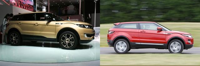 """Landwind X7 chẳng khác nào bản nhái """"trắng trợn"""" của Range Rover Evoque."""