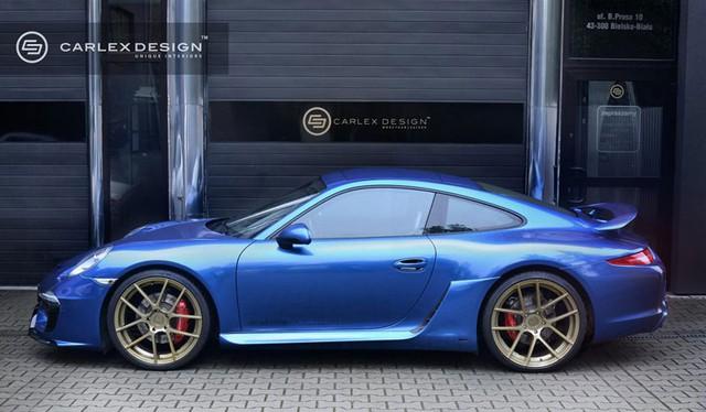 Porsche 911 màu xanh đặc biệt của Carlex Design.