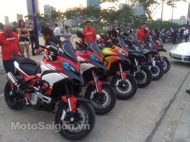 Dàn xe Ducati Multistrada đủ màu sắc.