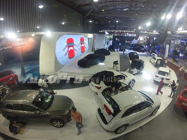 Audi với những mẫu xe đinh của mình tại triển lãm năm nay.