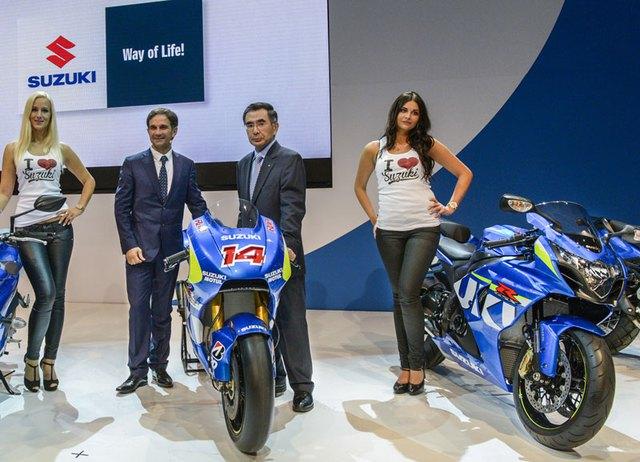 Siêu môtô Suzuki GSX-R1000 2015 ra mắt tại triển lãm Intermot năm nay.