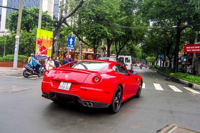 Ferrari 599 GTB là chiếc xe mạnh mẽ nhất trong bộ sưu tập. Siêu xe được nhập về nước năm 2009 và có thời gian dài định cư tại Hà Nội. Tháng 5/2011, xe gặp tai nạn, sau đó được sửa chữa và chuyển hộ khẩu vào Sài Gòn. Từ đó đến nay, rất ít khi bắt gặp nó xuất hiện trên đường. 599 GTB sử dụng động cơ 6 lít V12, 48 van, công suất 611 mã lực, tăng tốc 0-100 km/h sau 3,5 giây. Xe mới có giá 260.000 USD tại Mỹ.
