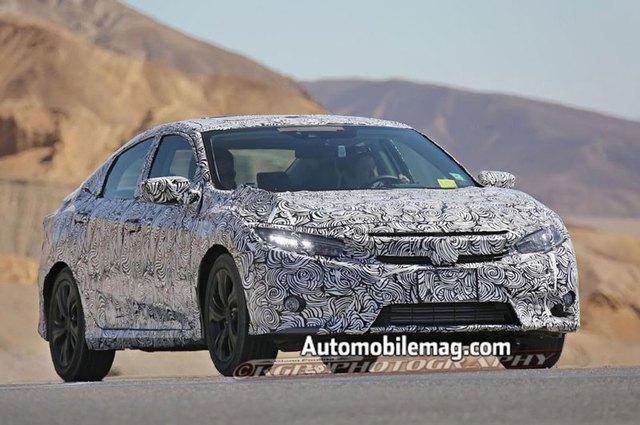 Honda Civic 2016 có thể sẽ được trang bị đèn LED toàn phần như Accord.