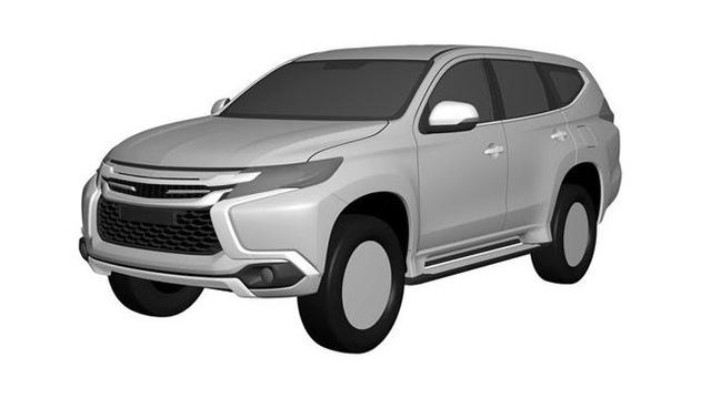 Hình ảnh của Mitsubishi Pajero Sport thế hệ mới rò rỉ từ tài liệu đăng ký bản quyền.