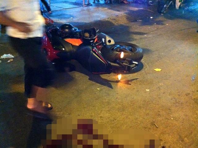 Chiếc Honda CB1000 tại hiện trường vụ tai nạn. Ảnh: Dân Chơi & PKL