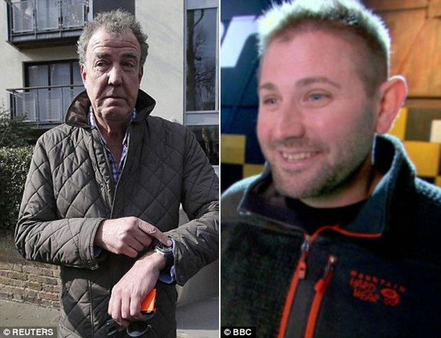 Jeremy Clarkson (bên trái màn hình) và nhà sản xuất Oisin Tymon.