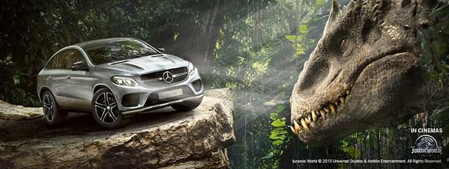 """Mercedes-Benz GLE Coupe xuất hiện trong phim """"Công Viên Kỷ Jura"""" mới."""