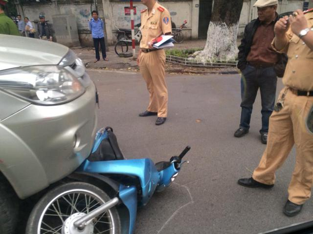 Hiện trường vụ tai nạn (Ảnh: Nguyễn Thế Anh/Otofun).