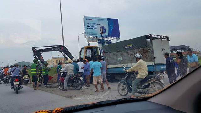 Hiện trường vụ tai nạn. Ảnh: Nguyễn Quang Ngọc/Otofun
