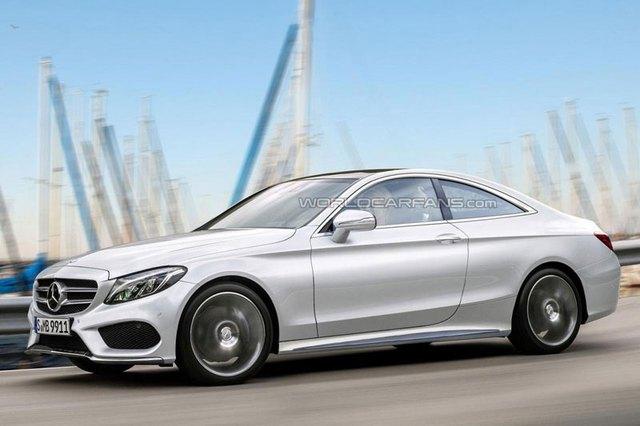 Hình ảnh phác họa của Mercedes-AMG C63 Coupe mới.