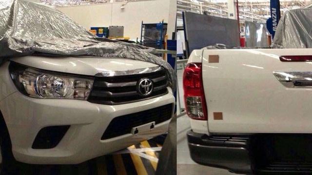 Toyota Hilux 2016 chụp trong nhà máy tại Thái Lan.