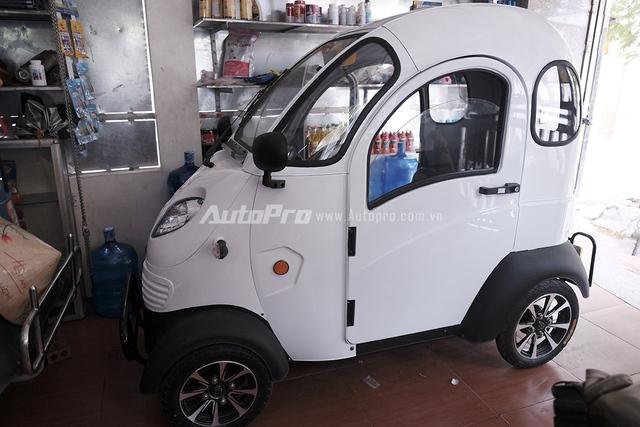 Xe ôtô điện có thiết kế khá dễ thương.