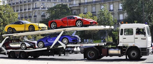 Những chiếc siêu xe từng bị tịch thu trong năm 2011 của ông Obiang.