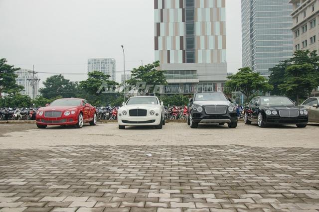 Trong đó, dàn xe siêu sang của hãng xe Bentley thu hút khá nhiều sự chú ý, bởi đây là một thương hiệu xe đình đám trên thế giới, cũng như việc, lần đầu tiên tham dự một triển lãm ô tô Việt Nam, khiến nhiều bạn trẻ khá háo hức trông đợi.