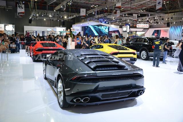 Bộ 3 thần tài Lamborghini Huracan hứa hẹn sẽ là tâm điểm tại triển lãm VIMS 2016 năm nay.