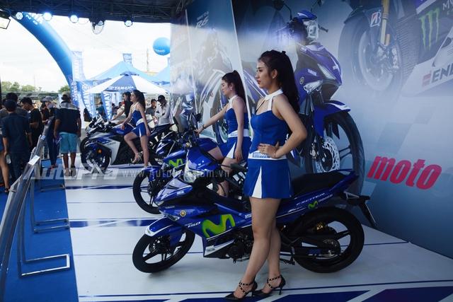 Yamaha R6, R1 cùng bộ đôi xe côn tay 150 phân khối FZ150i và Exciter 150 cũng được trưng bày trong ngày hội.