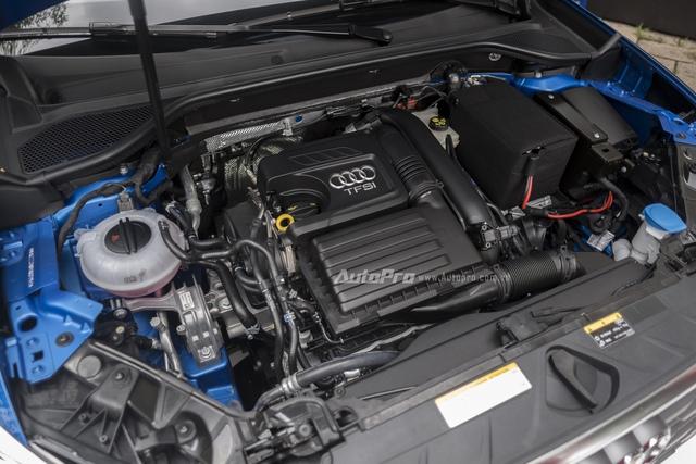 Có được điều này là nhờ vào việc sử dụng động cơ xăng 4 xy-lanh, dung tích 1,4 lít đạt tiêu chuẩn khí thải Euro 6, kết hợp với hộp số tự động S tronic 7 cấp. Động cơ tạo ra công suất tối đa 150 mã lực và mô-men xoắn cực đại 250 Nm.