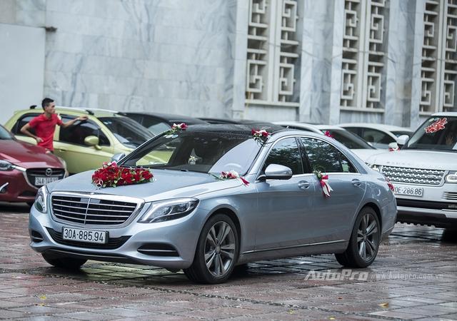 Kiện tướng Dance Sport Chí Anh đón dâu bằng Mercedes-Benz S500.