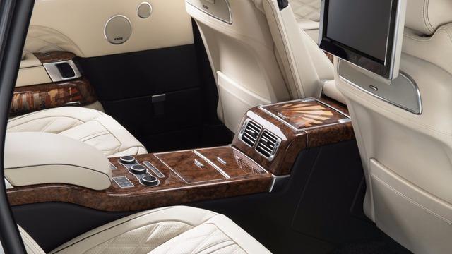 Các họa tiết khảm trai hình đường chân trời trong Range Rover Manhattan Edition